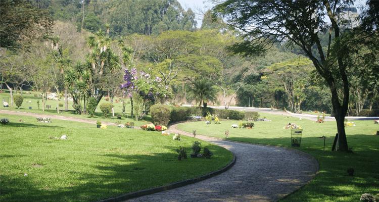 Paisagem do cemitério do morumbi