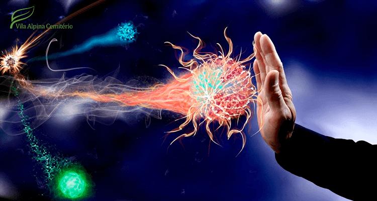 mão parando um vírus