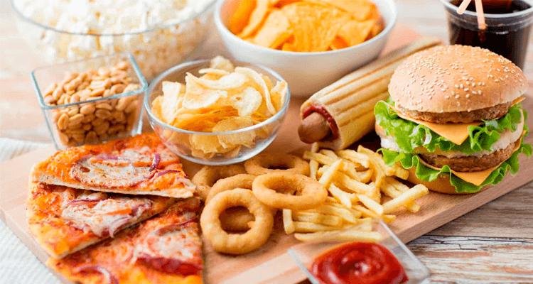 Comidas de fast food - colesterol
